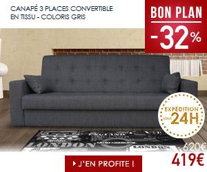 Bon plan canapé 3 places convertible