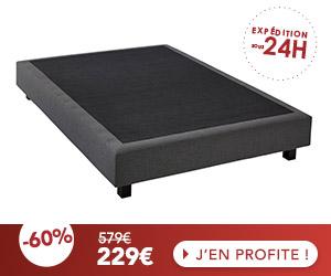 Sommier tapissier 140x190 cm CONFORTLUXE