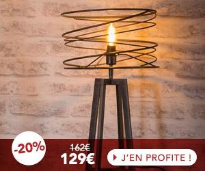 Lampe de table avec abat-jour spirale 30x50 cm en métal - SPIRA