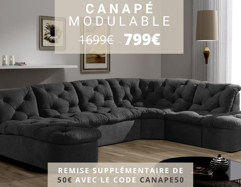 Promotion Excpetionnelle Canapé Modulable