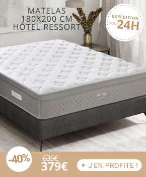 Matelas à ressorts ensachés 180x200 cm confort ferme - HOTEL RESSORT