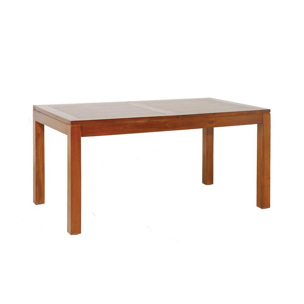 Meuble exotique - Table à manger en acacia avec rallonge 160/200cm - VOTARA photo 1