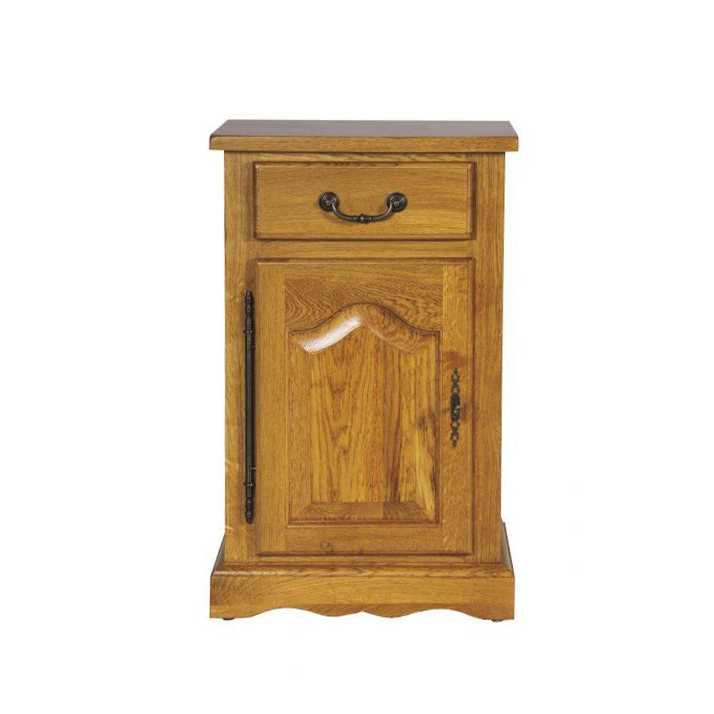 Chambre - Chevet 1 tiroir 1 porte Gauche 50X88cm chêne moyen photo 1