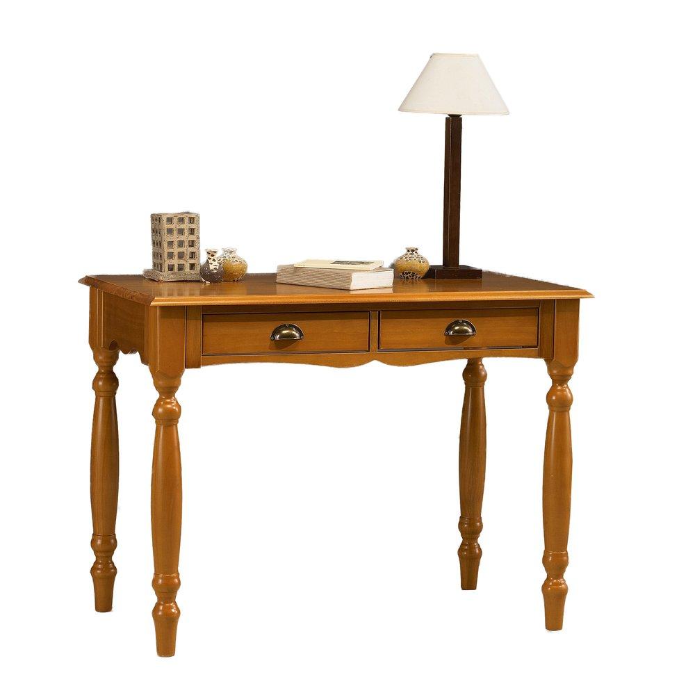 Bureau - Table àécrire 2 tiroirs en pin miel - AUTHENTIC PIN MIEL photo 1