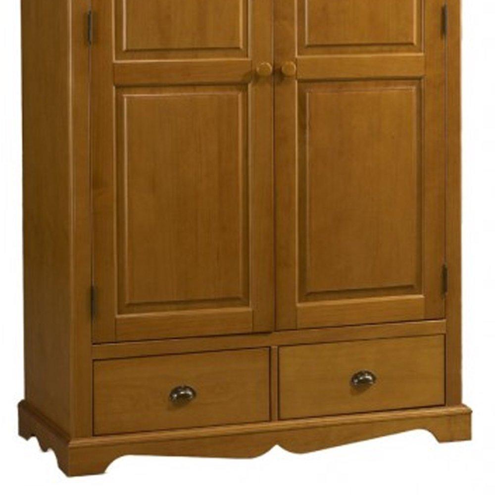 Armoire Penderie 2 Portes De Style Anglais En Pin Miel Authentic Pin Miel Maison Et Styles