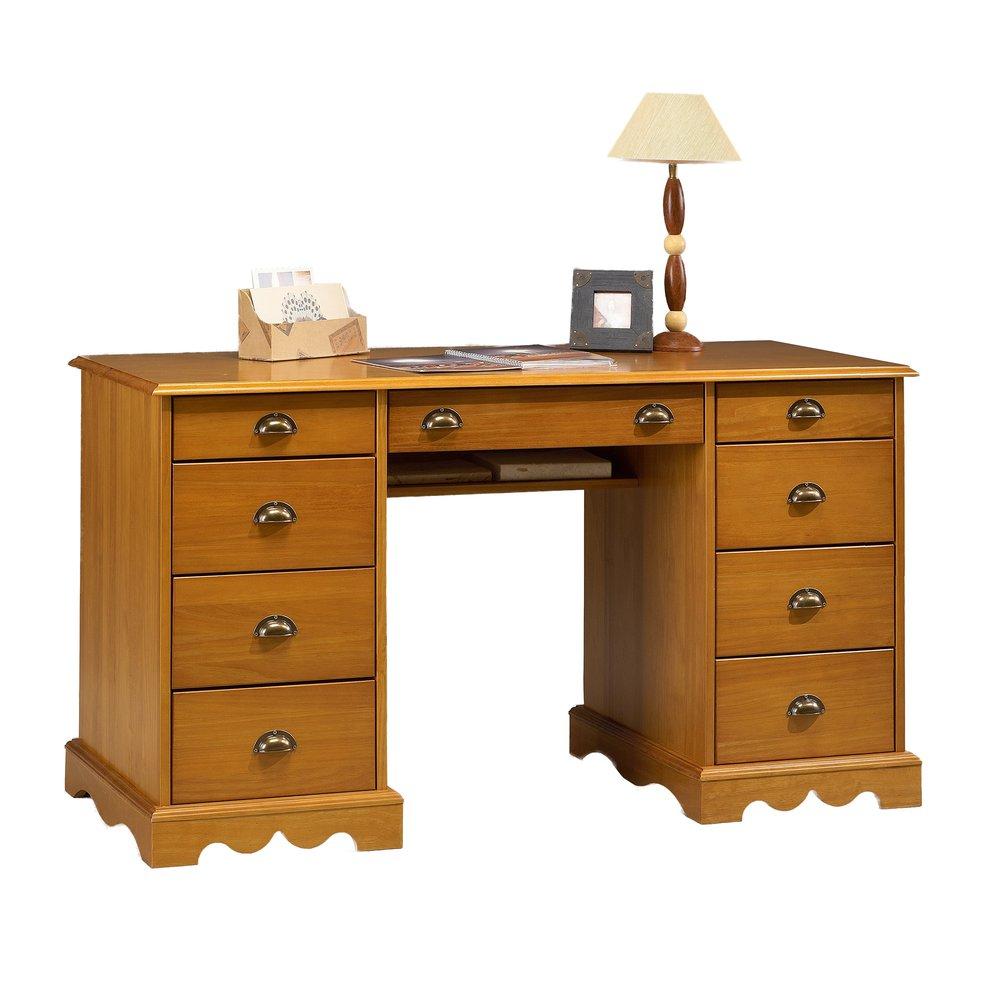 Bureau Ministre De Style Anglais En Pin Miel Authentic Pin Miel Maison Et Styles