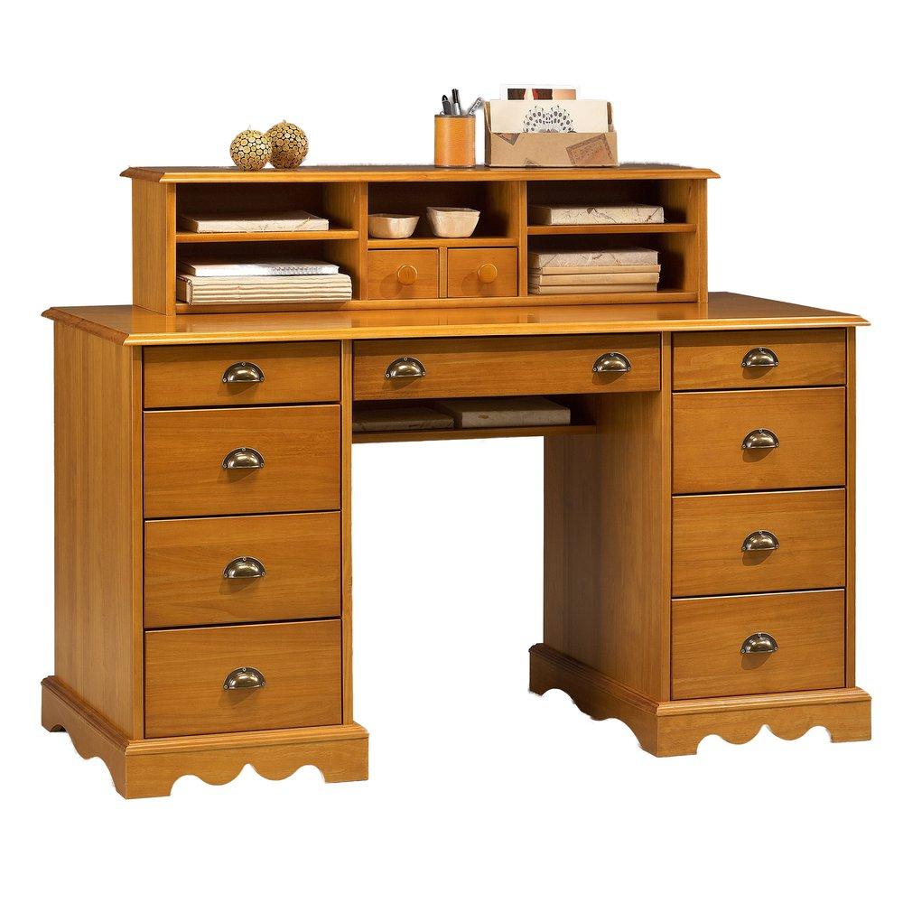 Bureau Notaire De Style Anglais En Pin Miel Authentic Pin Miel Maison Et Styles