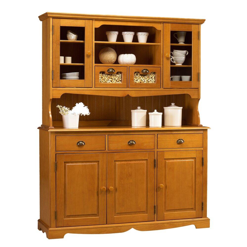 Buffet - vaisselier - Buffet vaisselier 5 portes 5 tiroirs de Style Anglais en pin miel - AUTHENTIC PI photo 1
