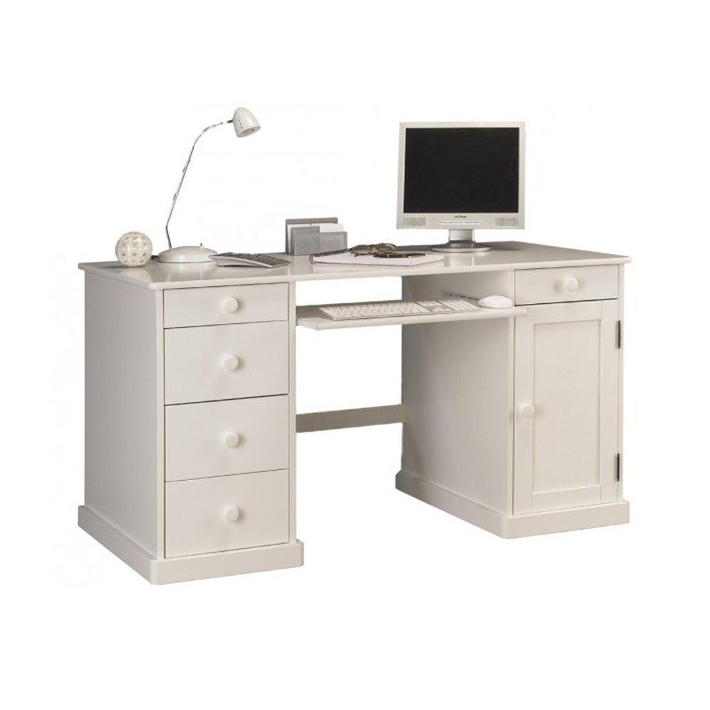 Bureau - Bureau Informatique Blanc de Style Anglais photo 1