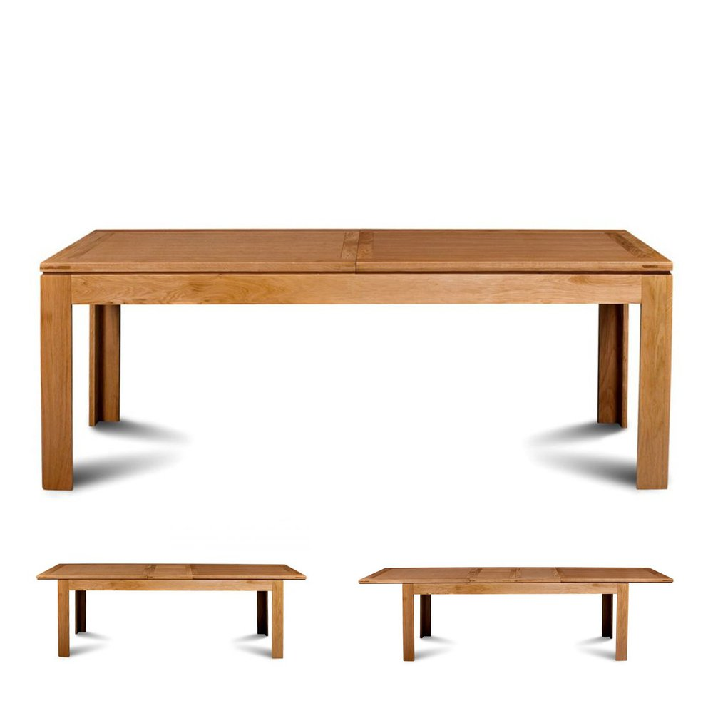 Table - Table à allonges 200 cm en chêne clair - SOPHIE photo 1
