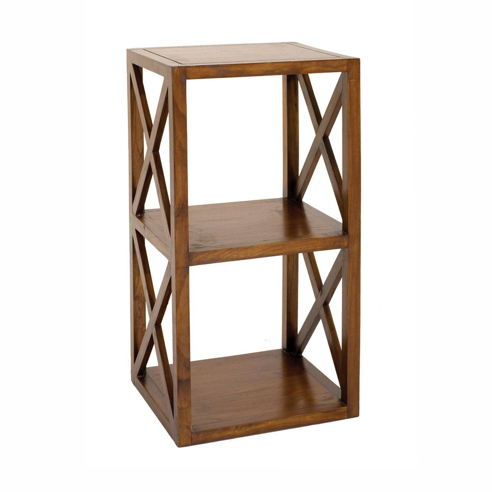 Bibliothèque - Etagère 40 cm 2 cases avec croisillons en bois - VOTARA photo 1