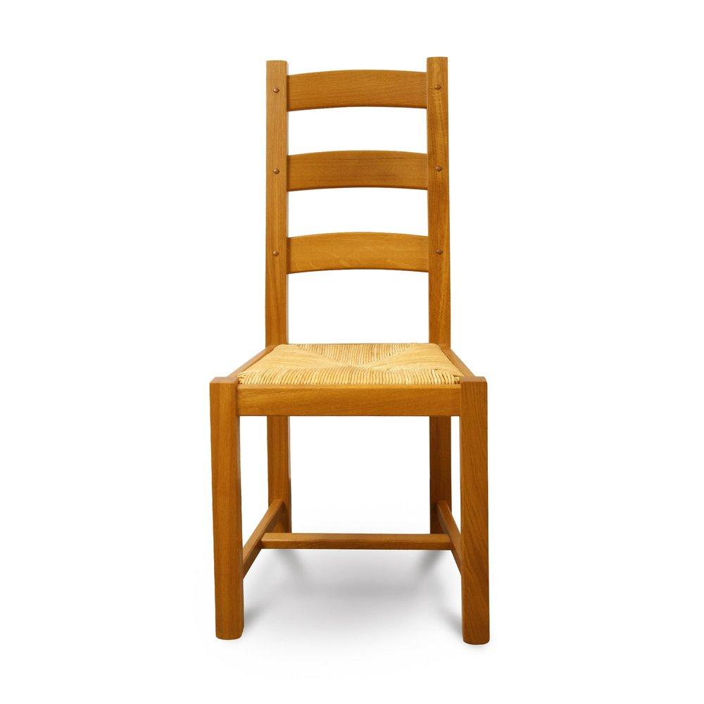 Chaise - Chaise Chêne pieds carrés chêne moyen photo 1
