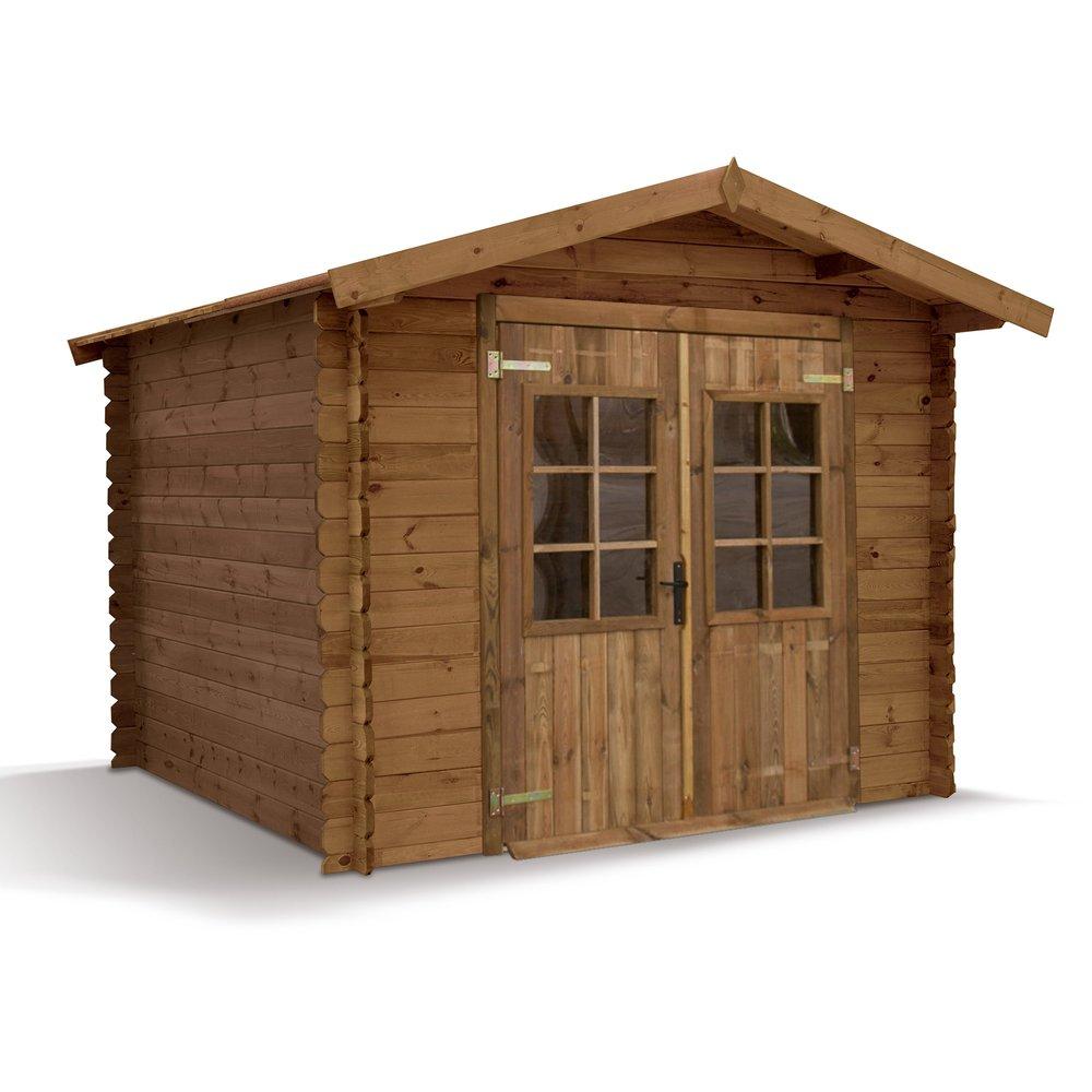 Abris, garages et serres - Abri de jardin Madeira Monda pin traité autoclave emboité 7 m2 photo 1