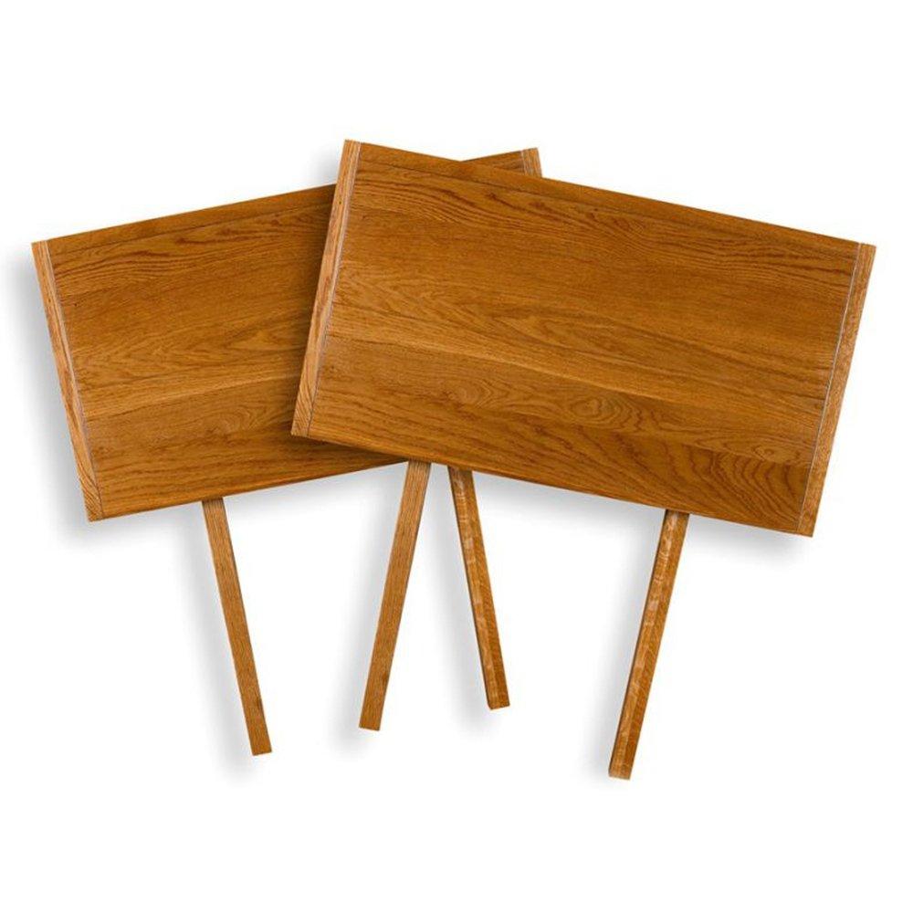 Table - Lot de 2 allonges de table en chêne moyen - HELENE photo 1