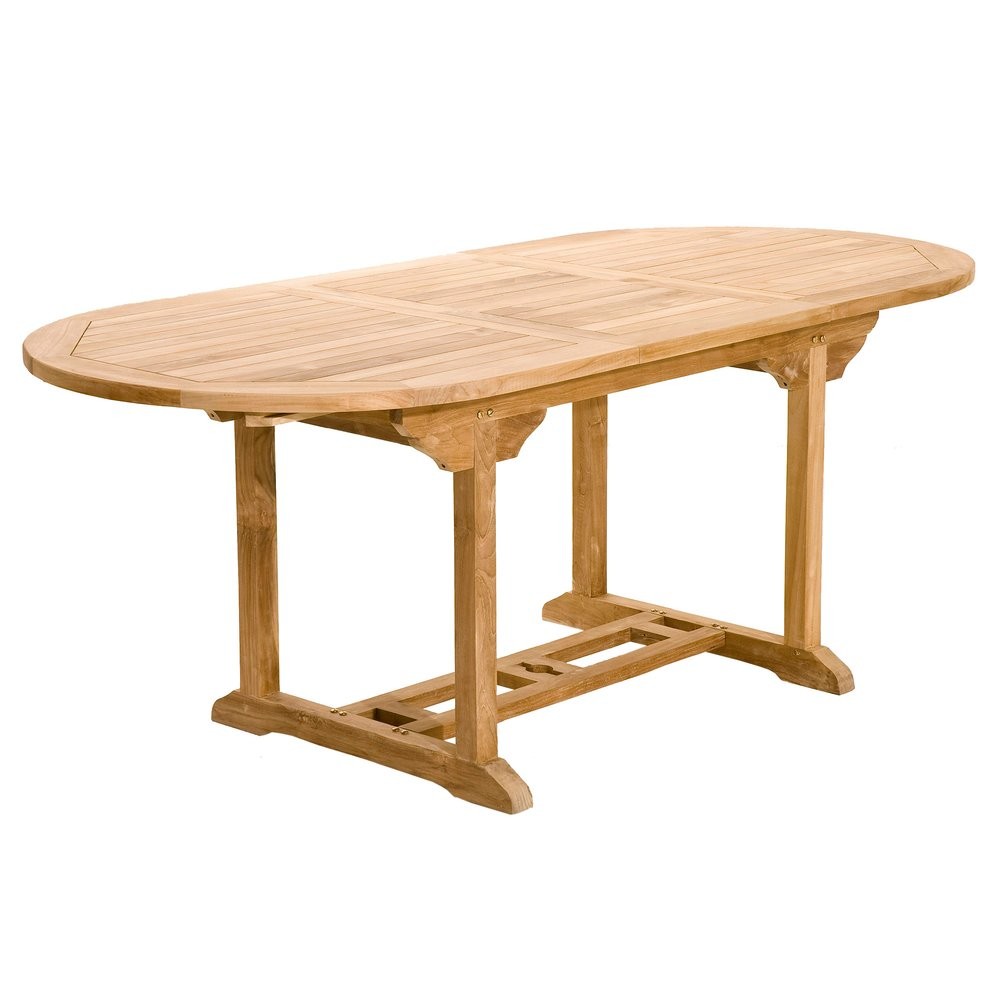 Meuble de jardin - Table ovale extensible 150/200 cm en teck - GARDENA photo 1