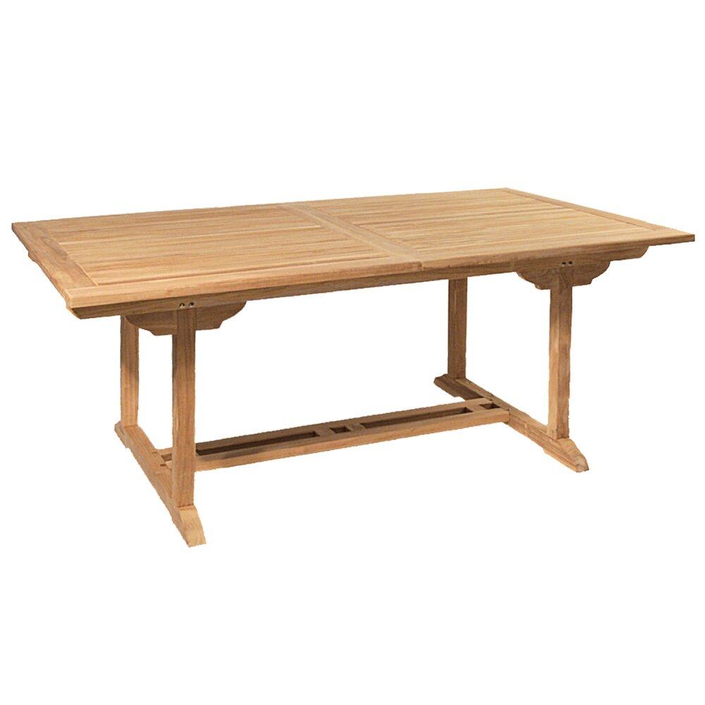 Meuble de jardin - Table rectangulaire extérieure en teck photo 1