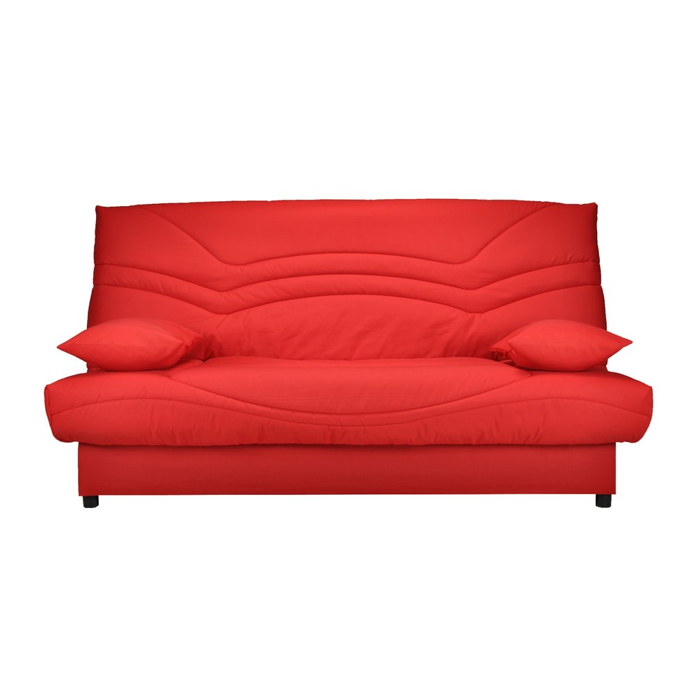 Banquette - Banquette-lit clic-clac 130cm 26kg, uni rouge photo 1