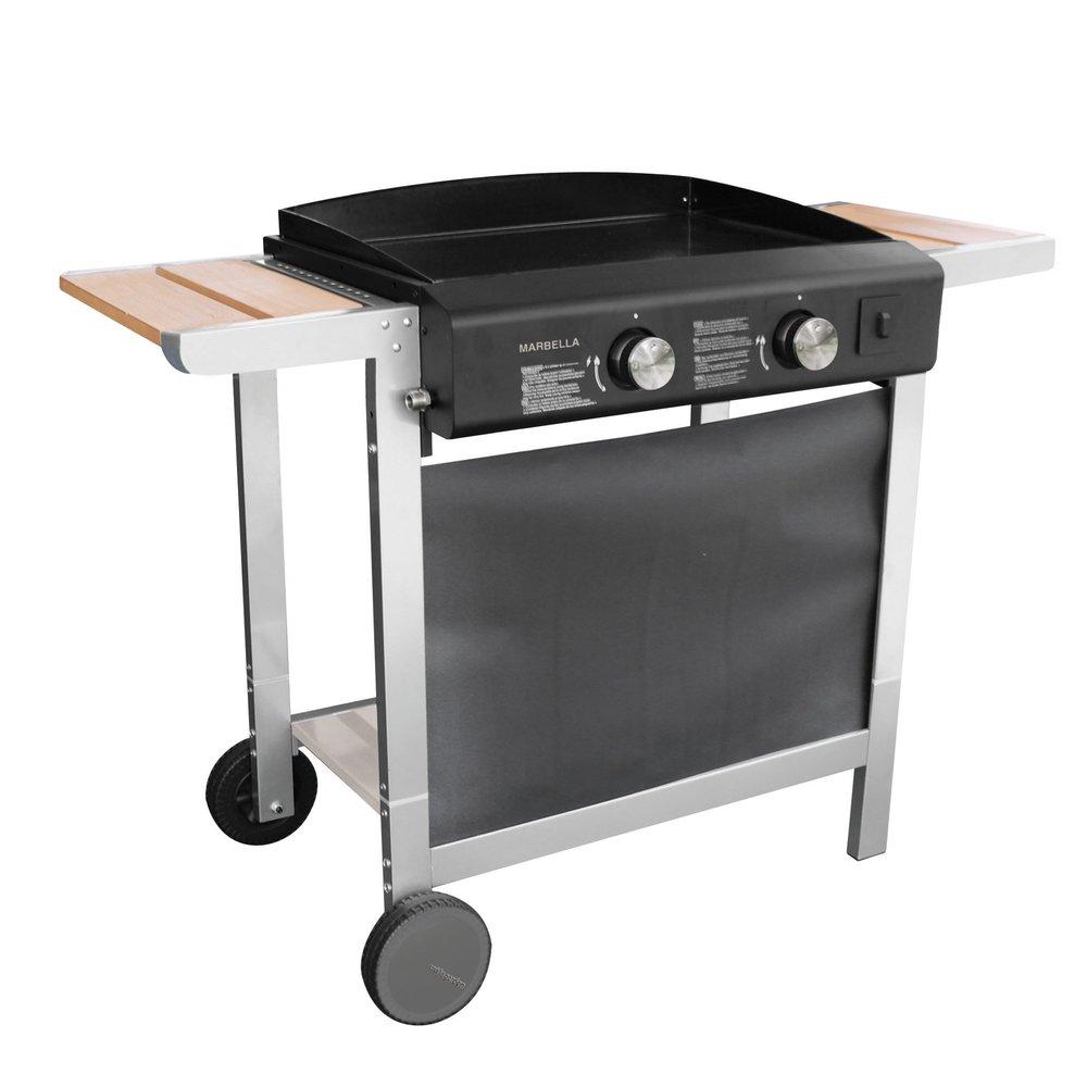 Barbecue Gaz Sans Plancha plancha gaz sur chariot marbella 61 | maison et styles