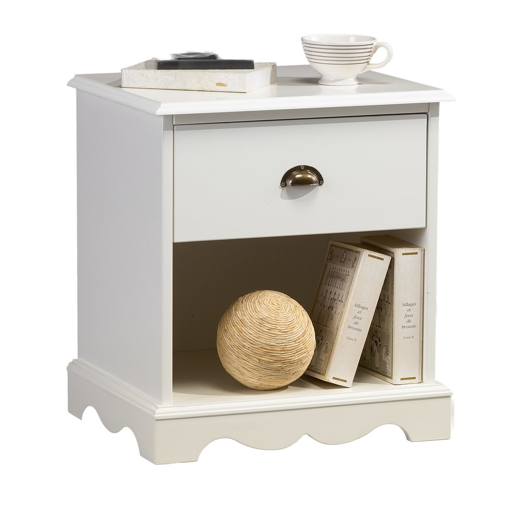 Chevet - Chevet blanc 1 tiroir de style anglais photo 1