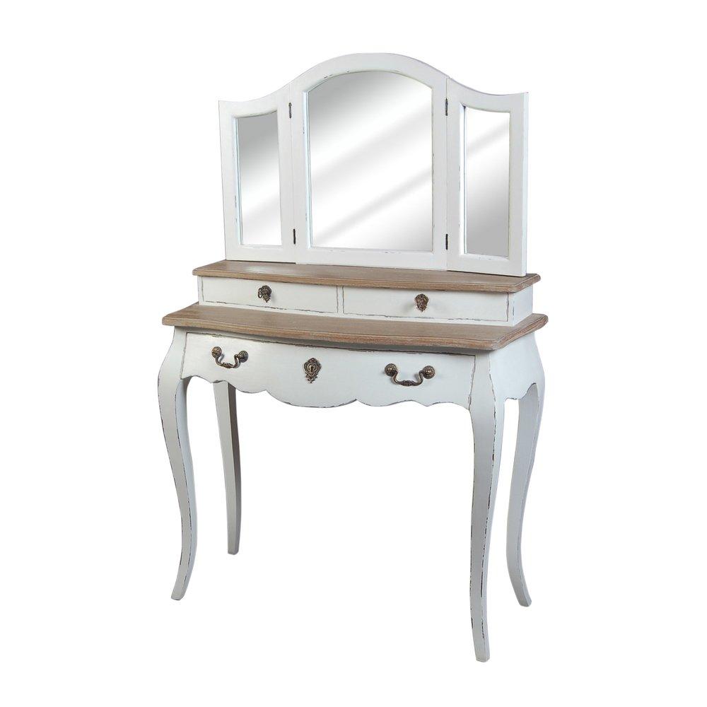 Chambre - Coiffeuse 3 tiroirs coloris blanc photo 1