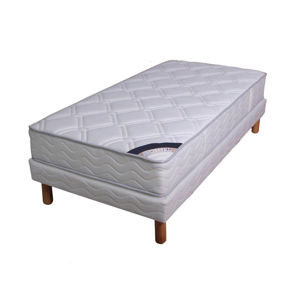 Literie - Ensemble matelas ressorts ensachés - grand confort luxe ferme 90x190cm + sommie photo 1