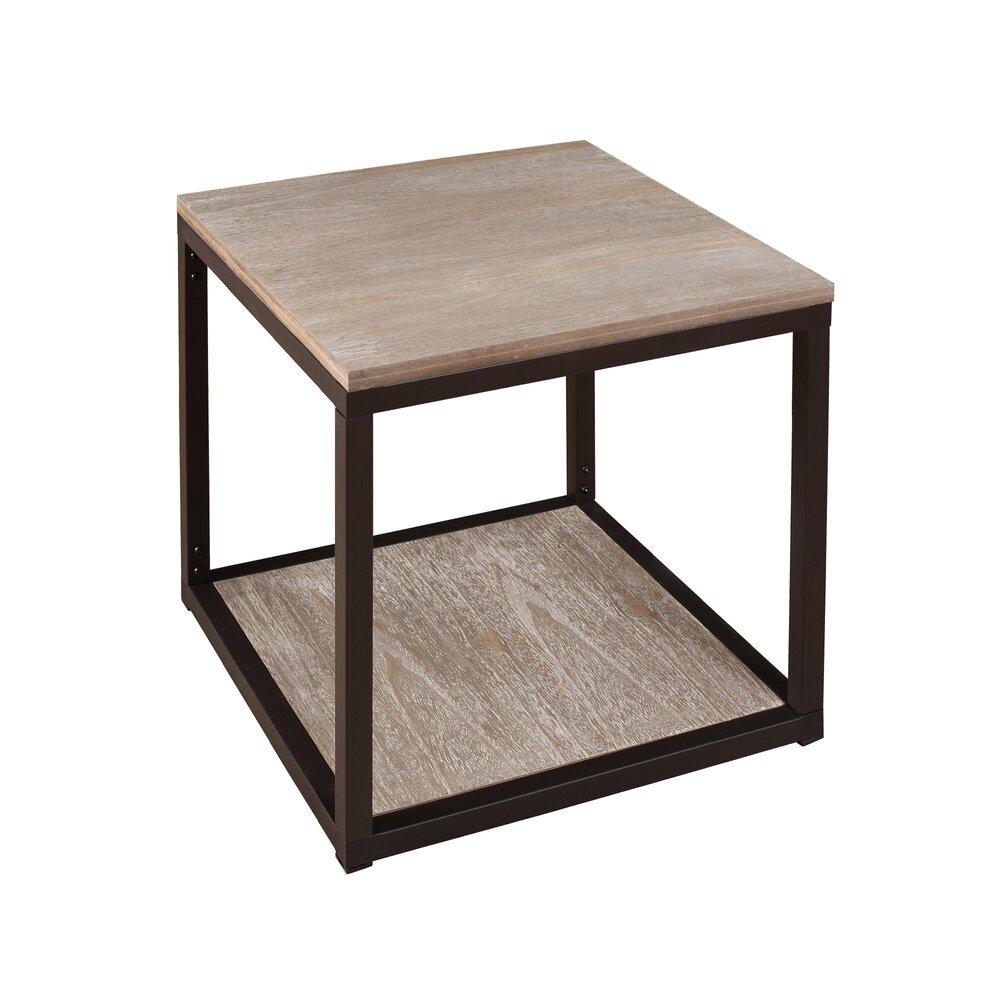 Bout de canapé - Bout de canapé bois et métal photo 1