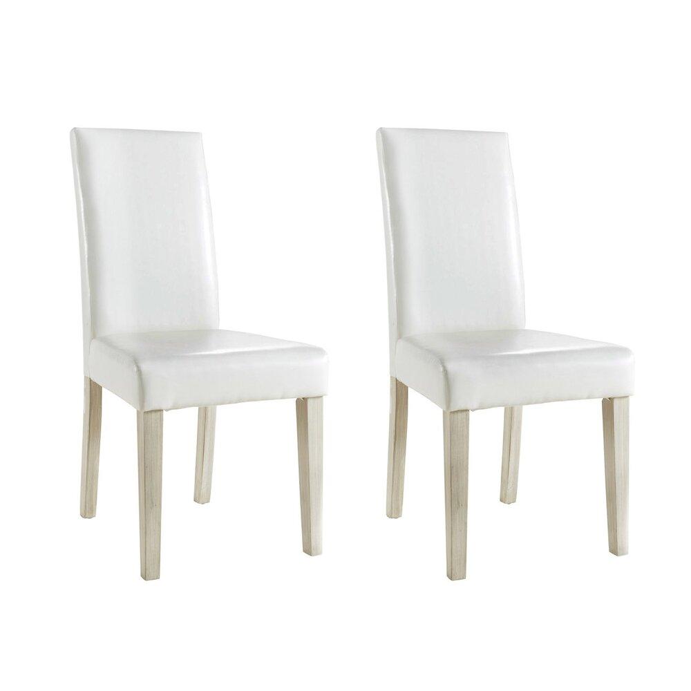 Chaise - Lot 2 chaises de séjour coloris blanc photo 1