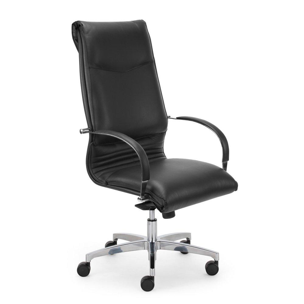 Fauteuil de bureau - Fauteuil de bureau professionnel cuir sur roulettes coloris noir photo 1