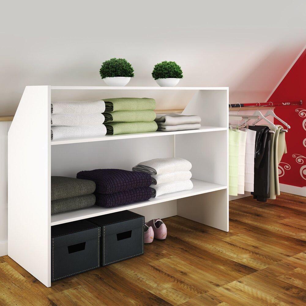 Lit Superposé Sous Pente meuble de rangement sous-combles - coloris blanc | maison et