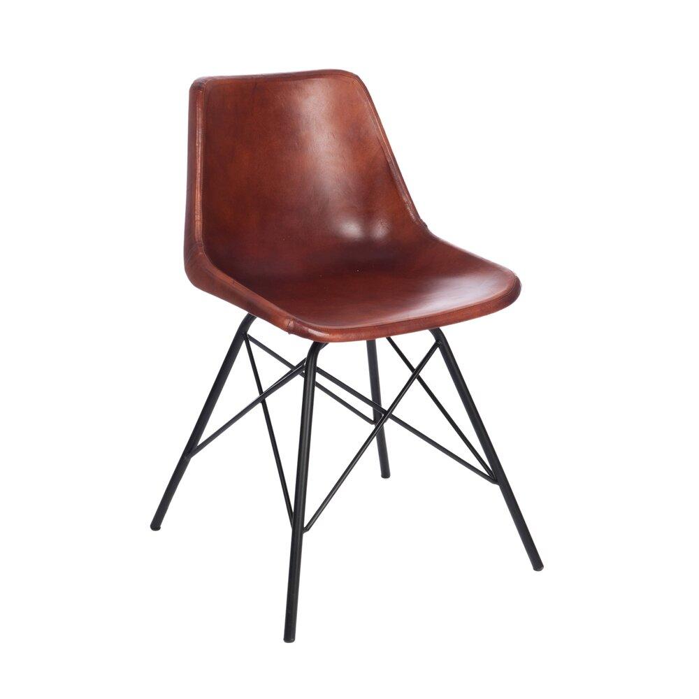 Chaise - Chaise cuir et pieds métal - coloris camel photo 1