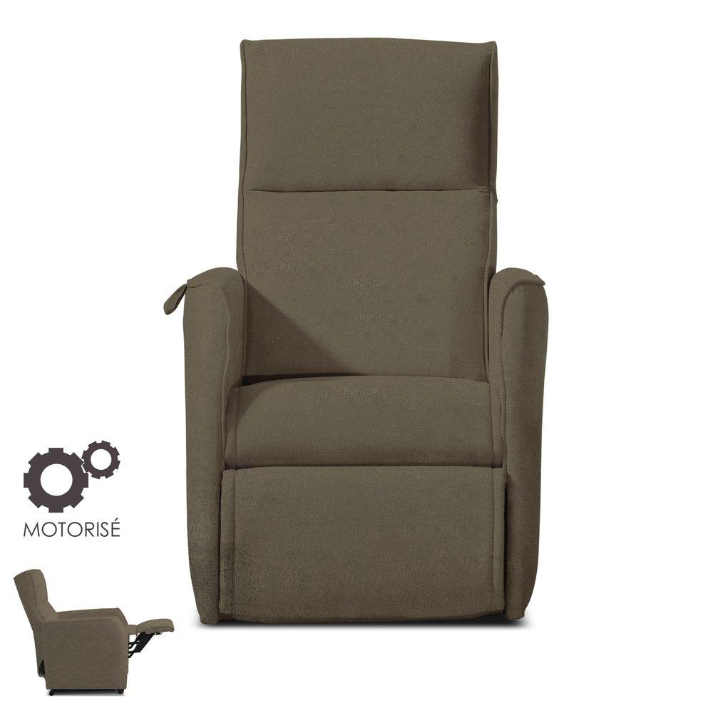 Fauteuil de relaxation - Fauteuil de relaxation motorisé - microfibre coloris charbon photo 1