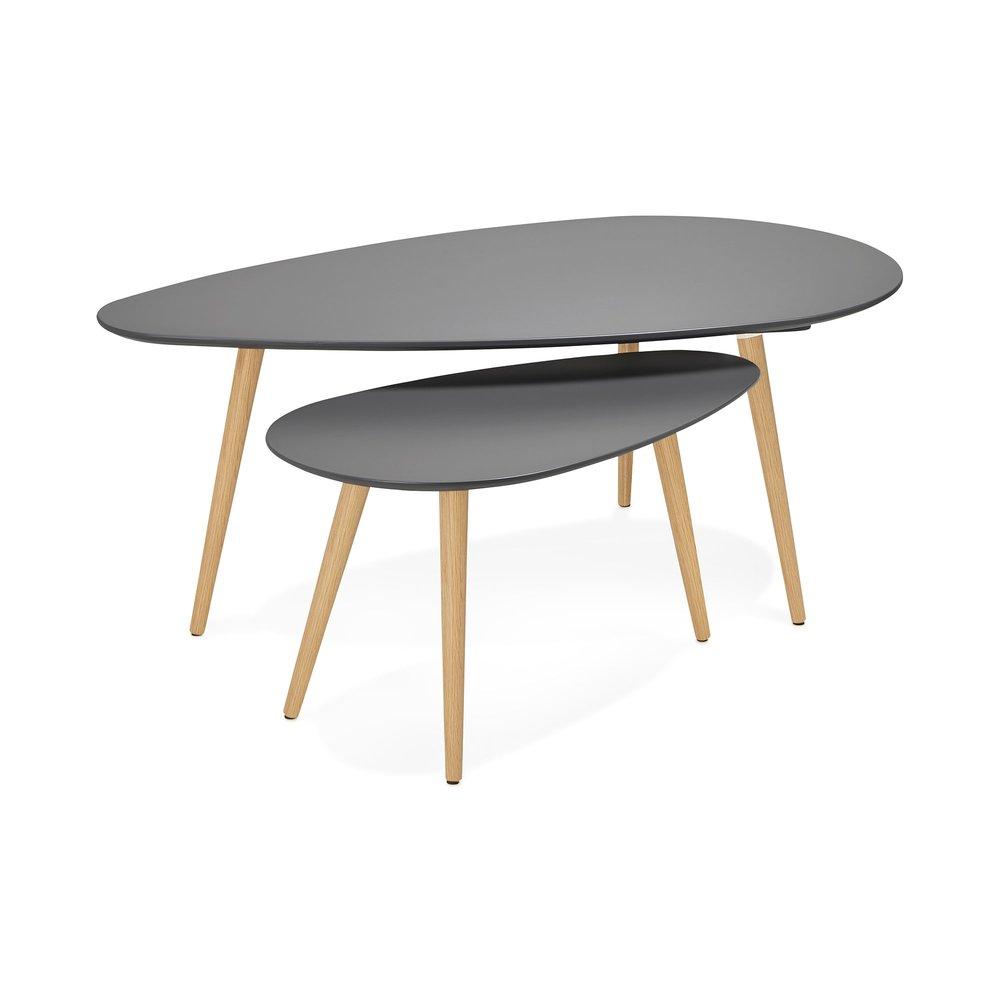 Table basse - Tables gigognes grises 116 x 66 x 45 cm - BALTIC photo 1