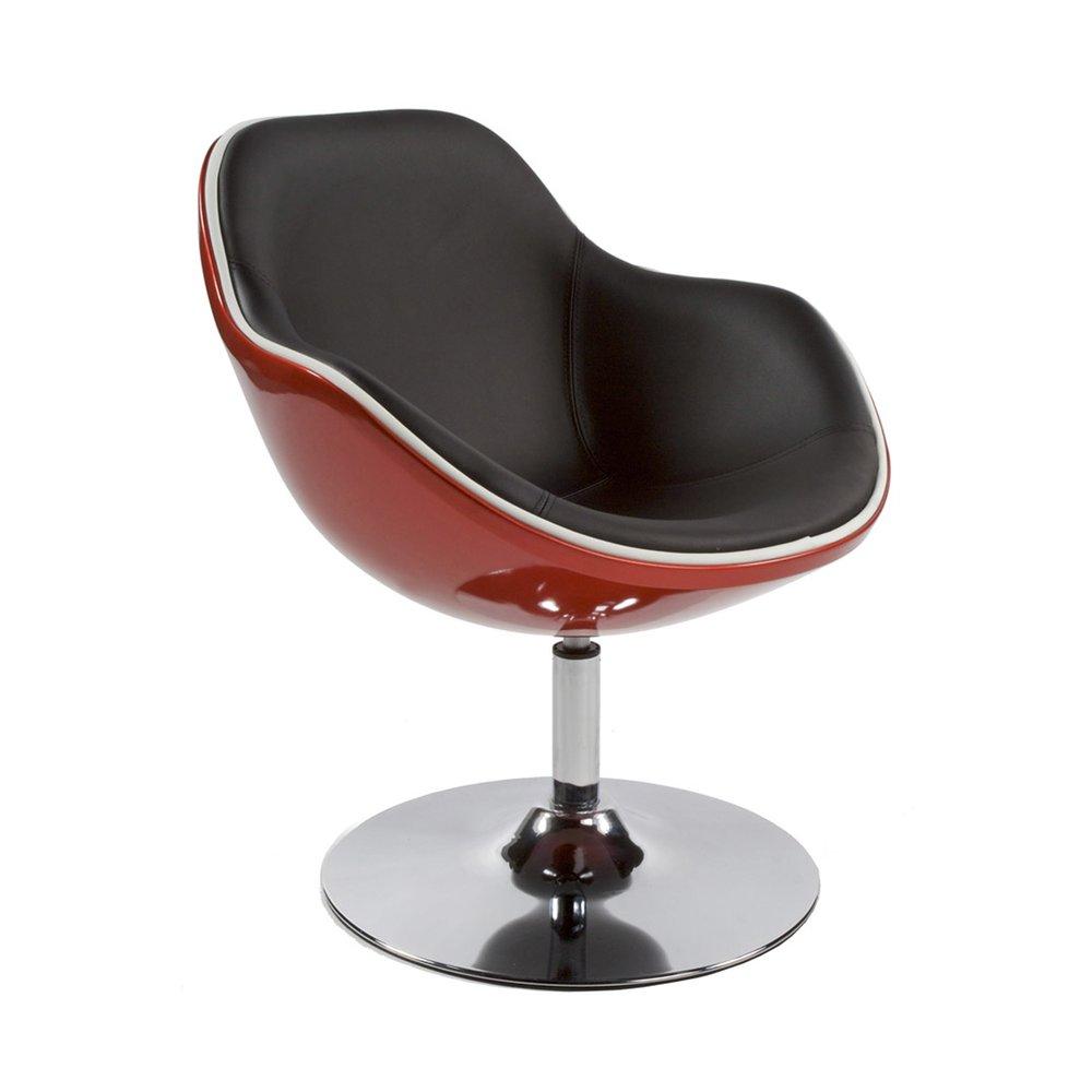 Fauteuil - Fauteuil design 68x68x82,5cm rouge et noir - DAYTO photo 1