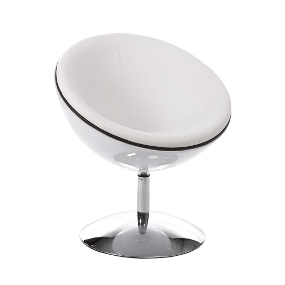 Fauteuil - Fauteuil design 60x70x78cm SPHEREA - blanc photo 1
