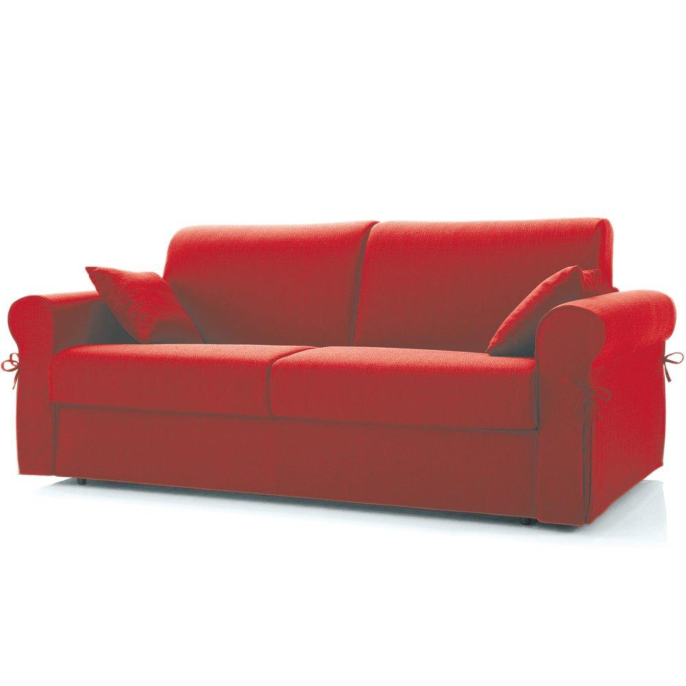 Canapé - Canapé convertible 3 places maxi, tissu déhoussable - rouge photo 1