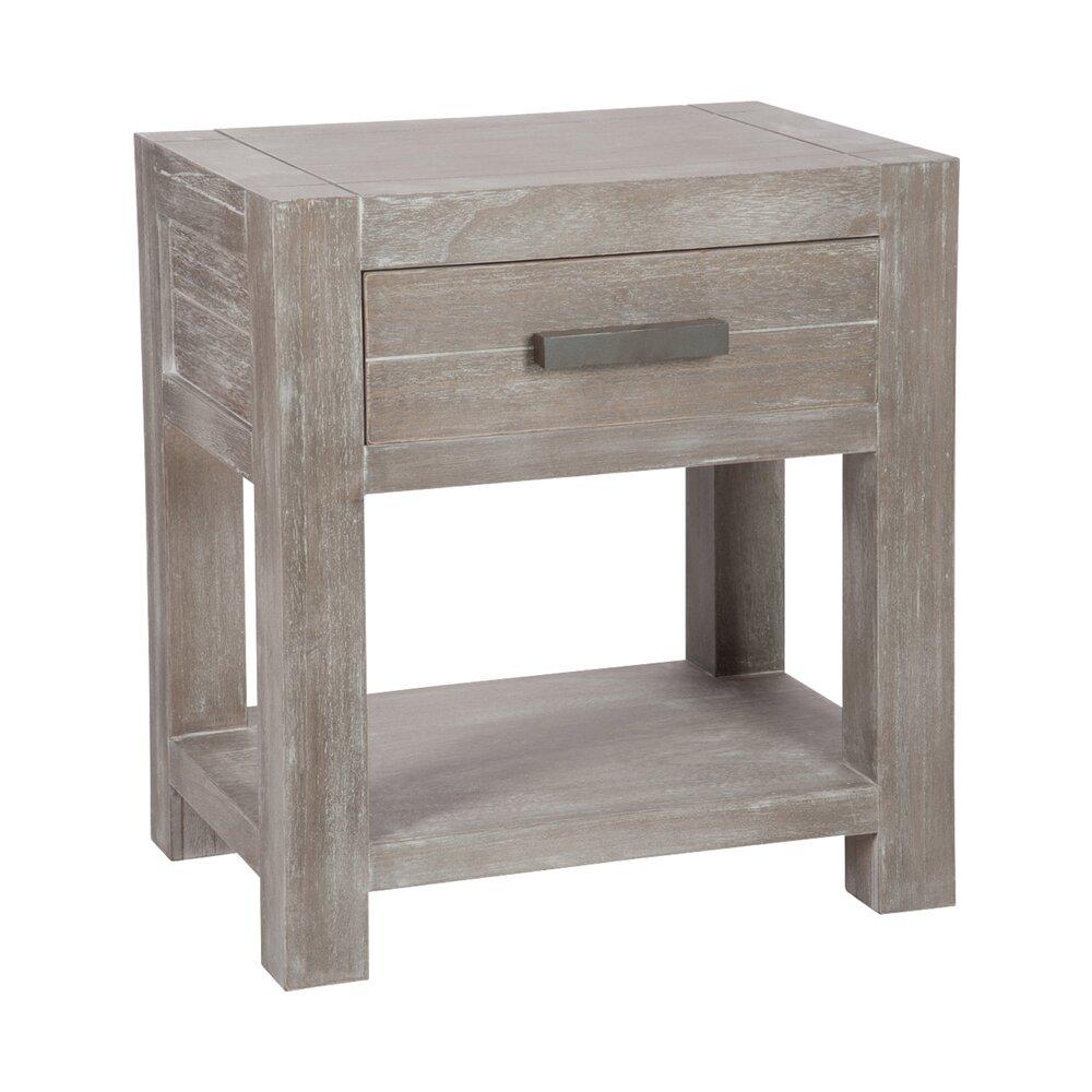 Chambre - Chevet 1 tiroir en bois naturel 50x36x55cm photo 1