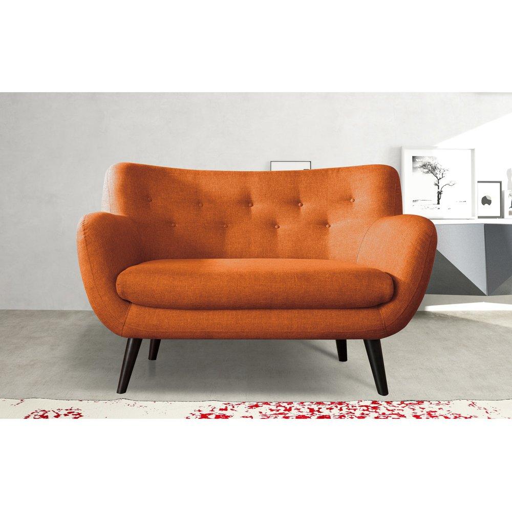 Canapé - Canapé 2 places en tissu orange - ALPHA photo 1
