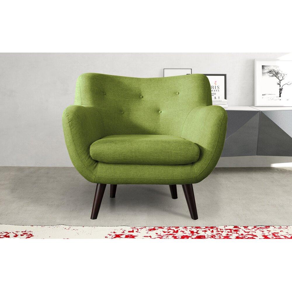 Fauteuil - Fauteuil en tissu vert - ALPHA photo 1