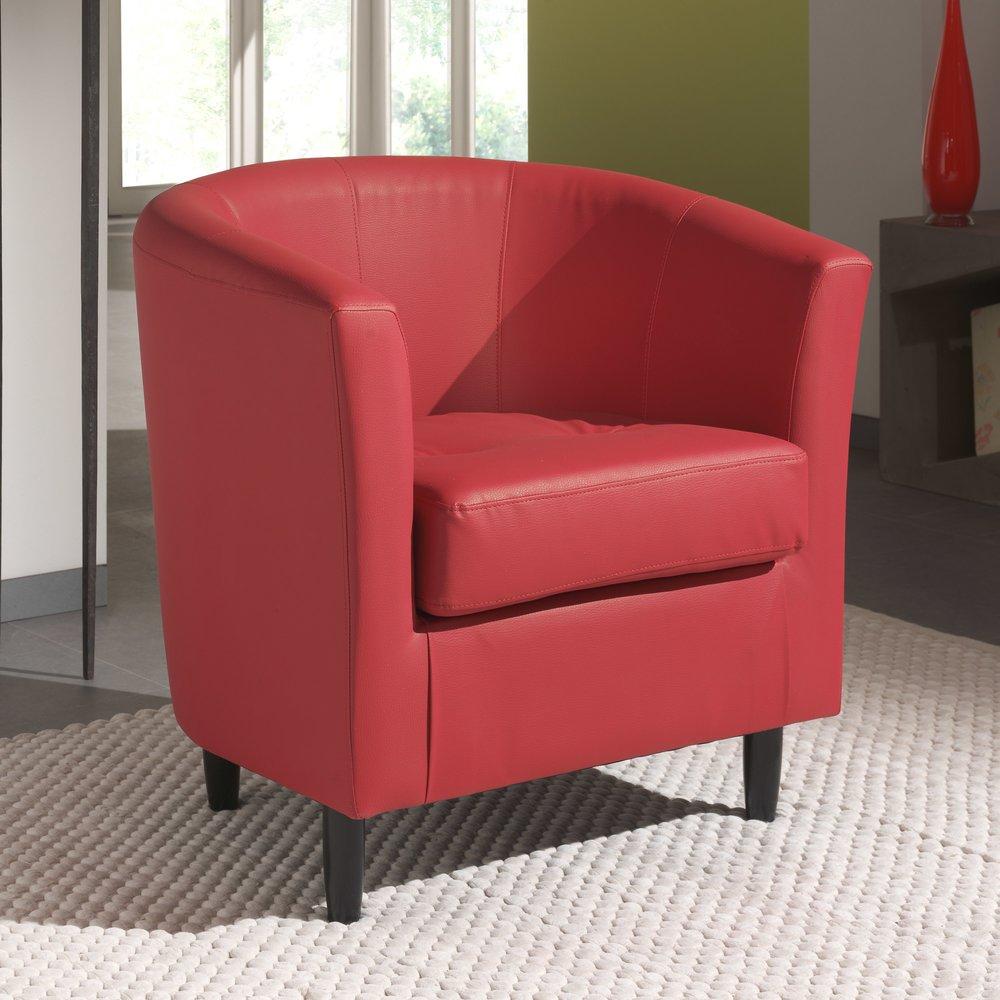 Canapé - Fauteuil - Fauteuil en PVC rouge PLOUGASTEL photo 1