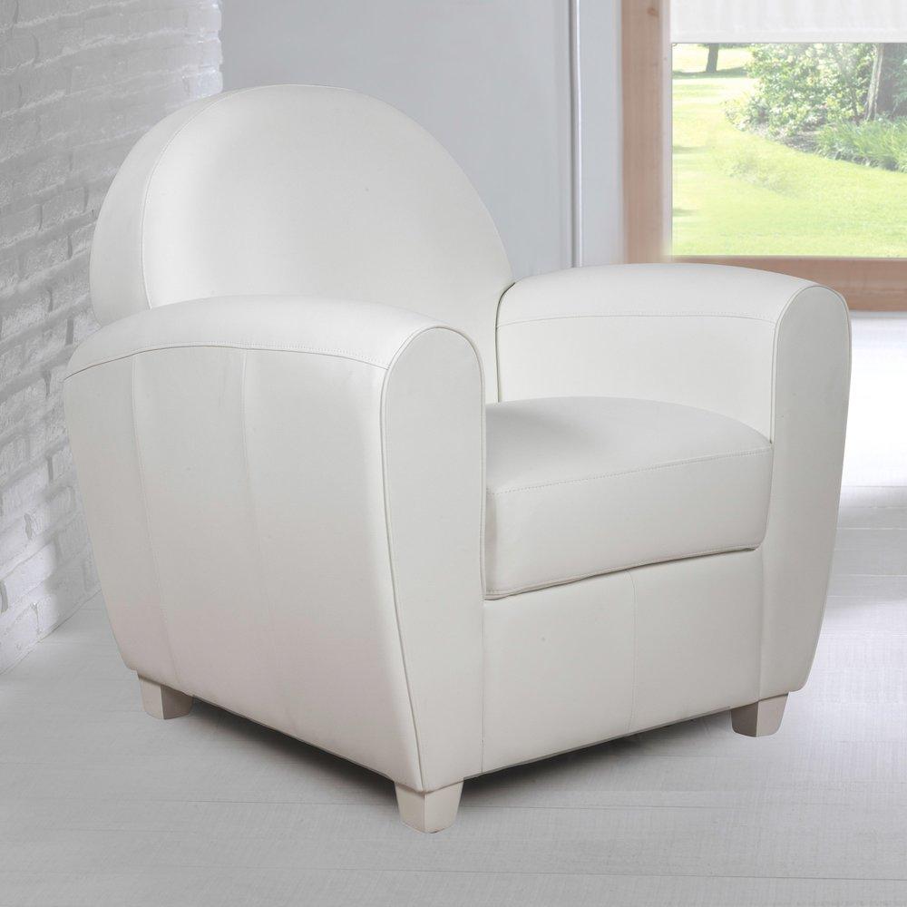 Fauteuil - Fauteuil en PVC blanc CLUB photo 1