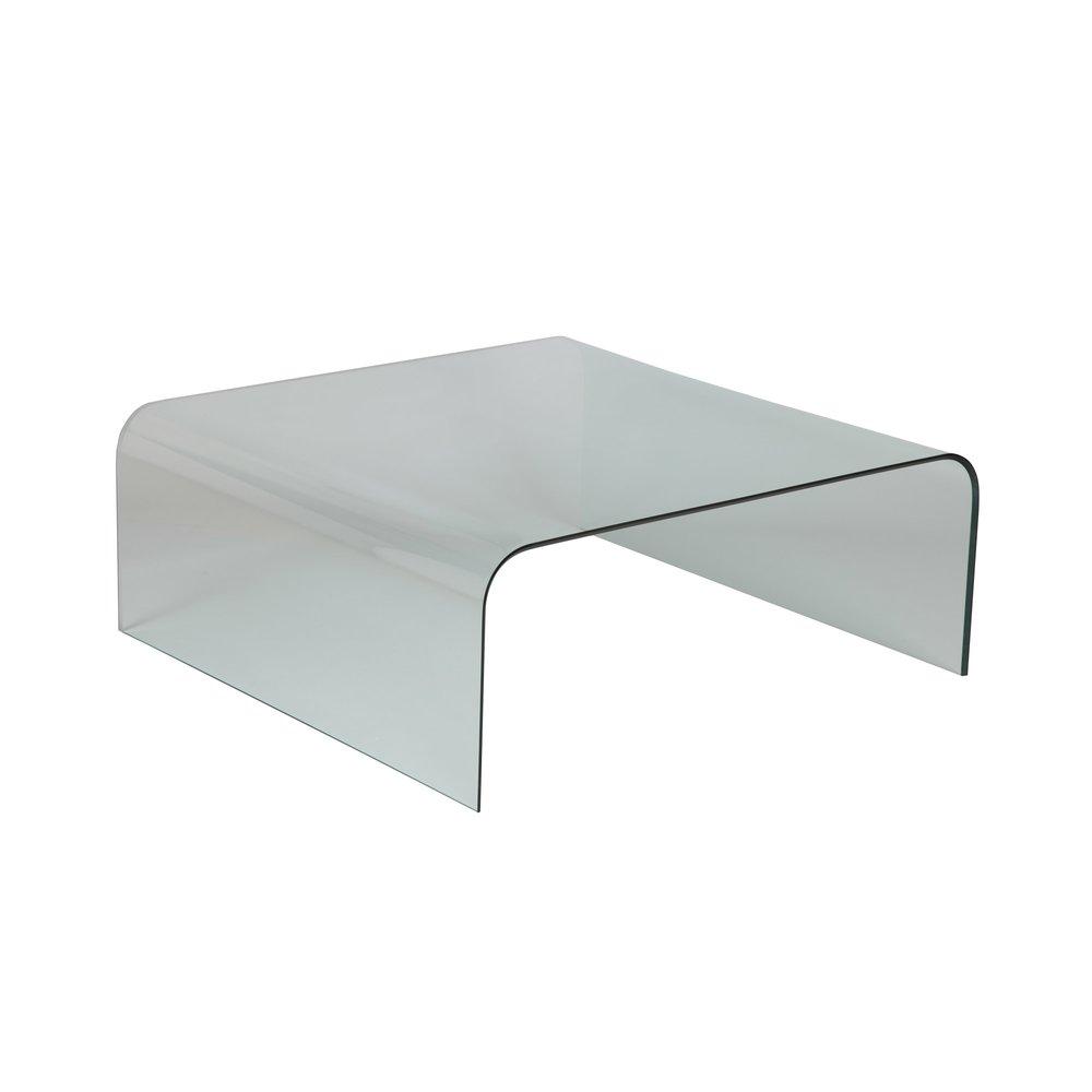 Table basse - Table basse carrée 104 cm en verre trempé - GLASS photo 1
