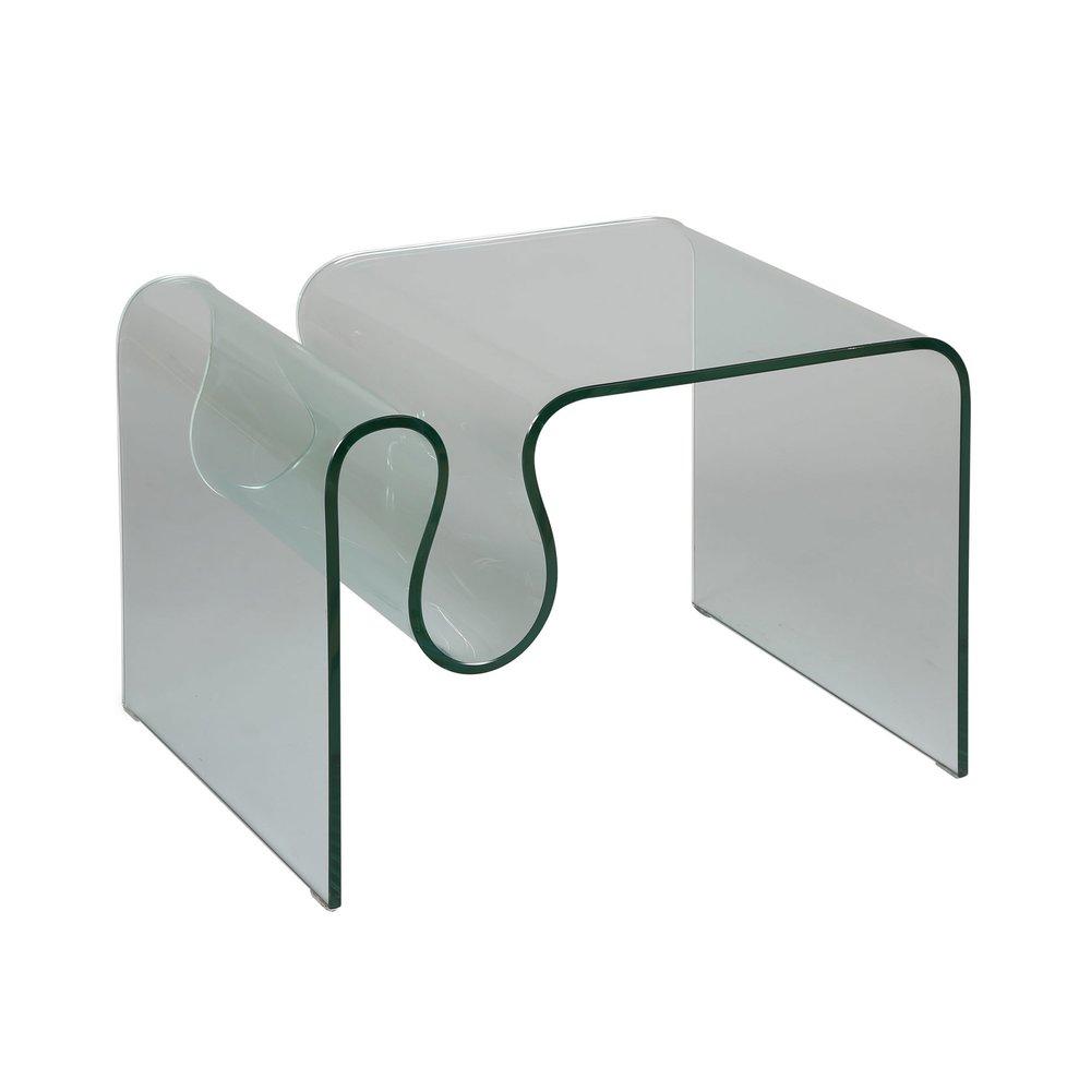 Table basse - Table basse porte-revues en verre trempé - GLASS photo 1