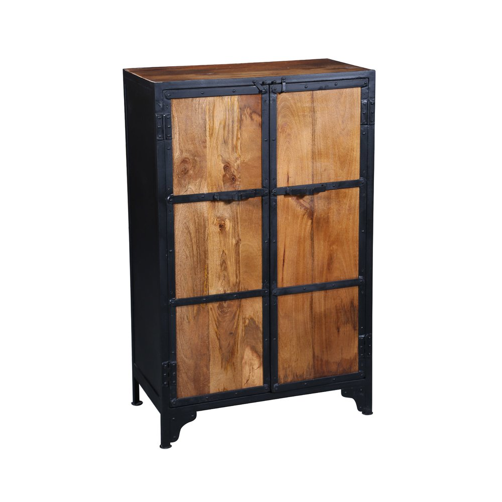 Armoire - Armoire 2 portes en acier et bois naturel ATELIER METAL photo 1