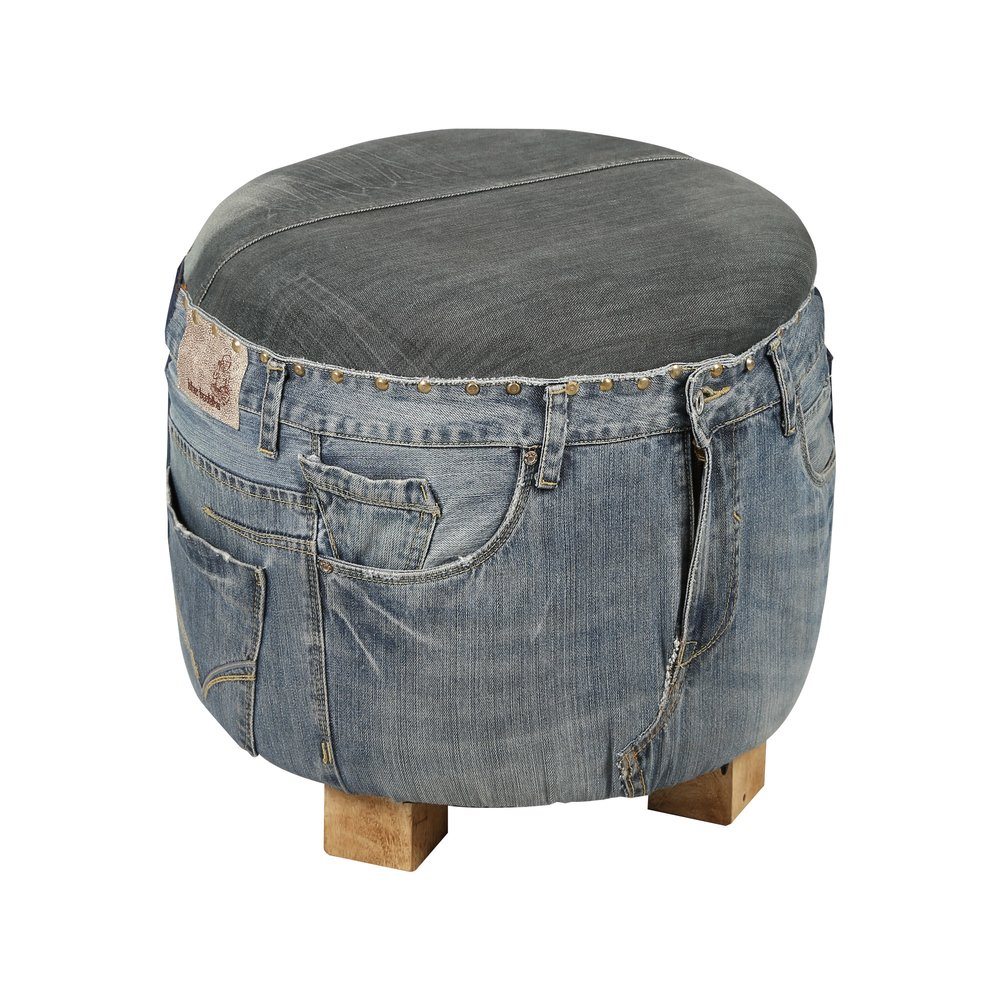Pouf - Pouf en jeans ATELIER METAL photo 1