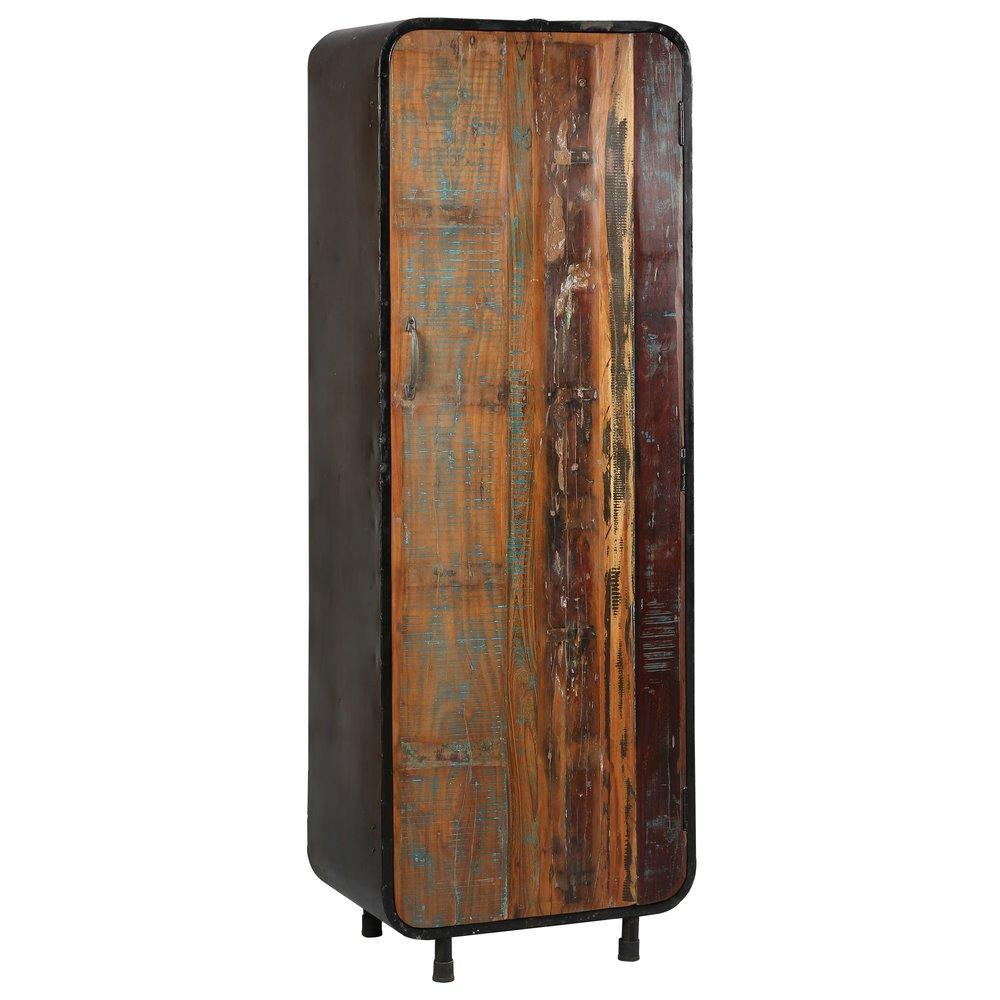 Armoire - Armoire 1 porte en acier et bois ATELIER METAL photo 1