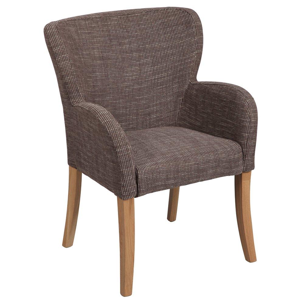 Chaise - Chaise accoudoir rond coloris gris photo 1