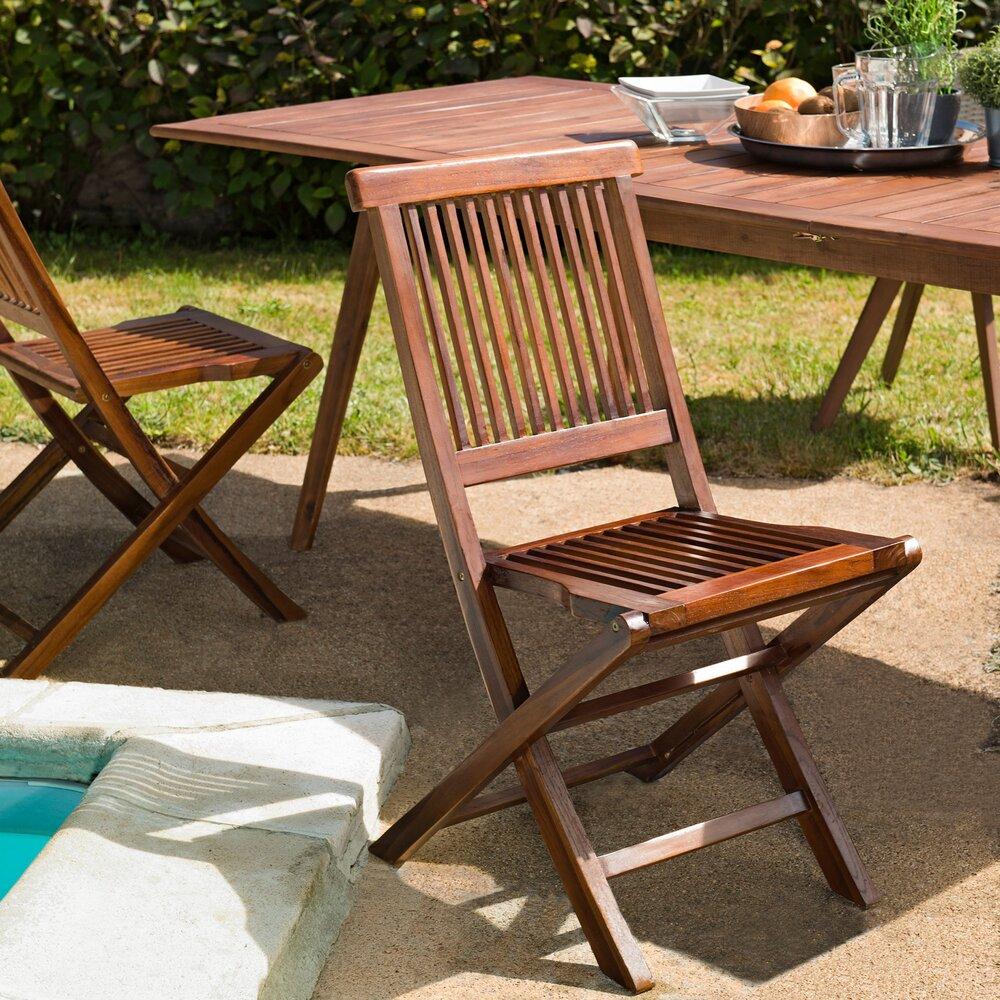 Meuble de jardin - Lot de 2 chaises java photo 1