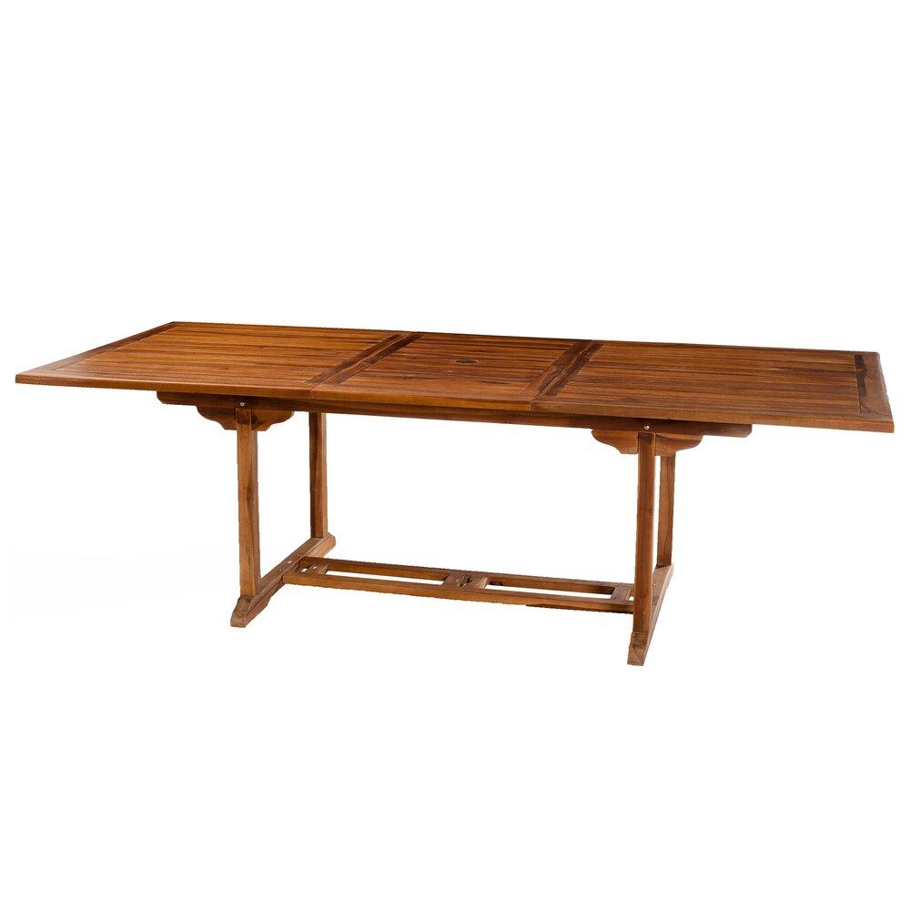 Meuble de jardin - Table rectangulaire double extension 200/300x120 photo 1