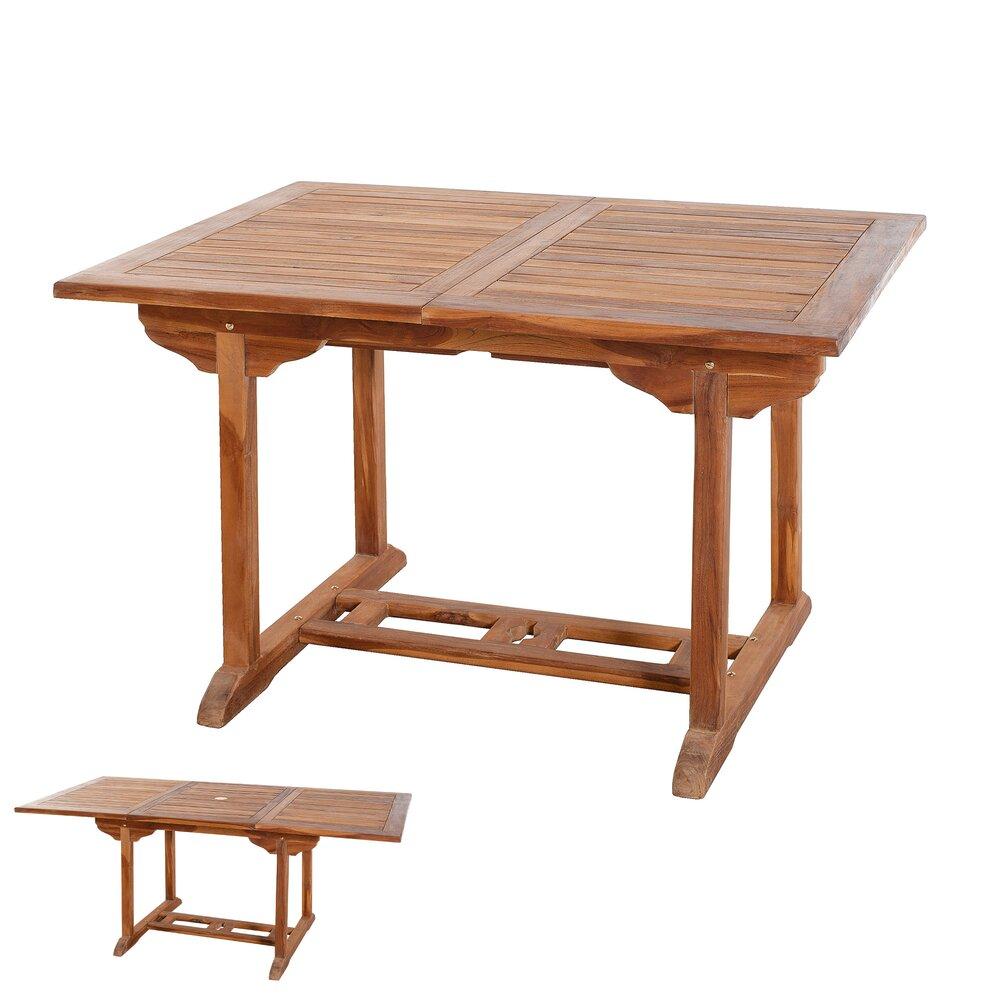 Meuble de jardin - Table rectangulaire extensible 120/180x90 photo 1