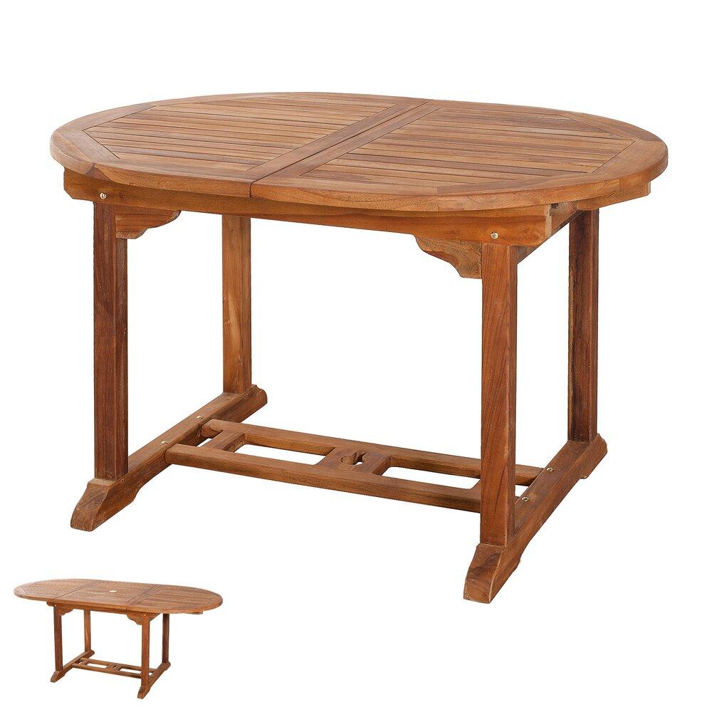 Meuble de jardin - Table ovale extensible 120/180x90 photo 1
